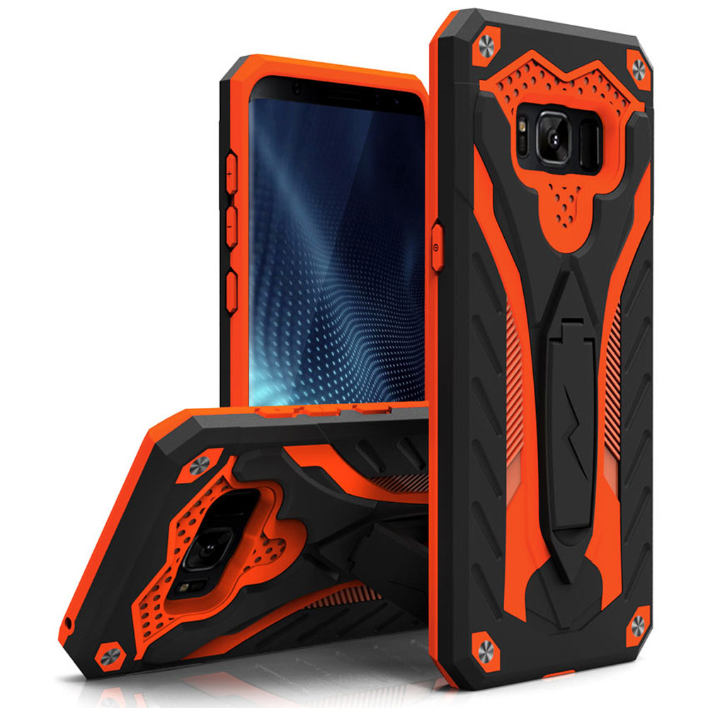 ORANGE GALAXY S8 STATIC CASE