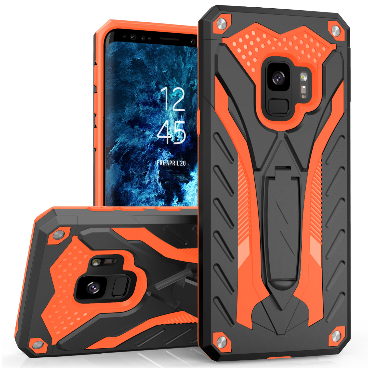ORANGE GALAXY S9 CASE