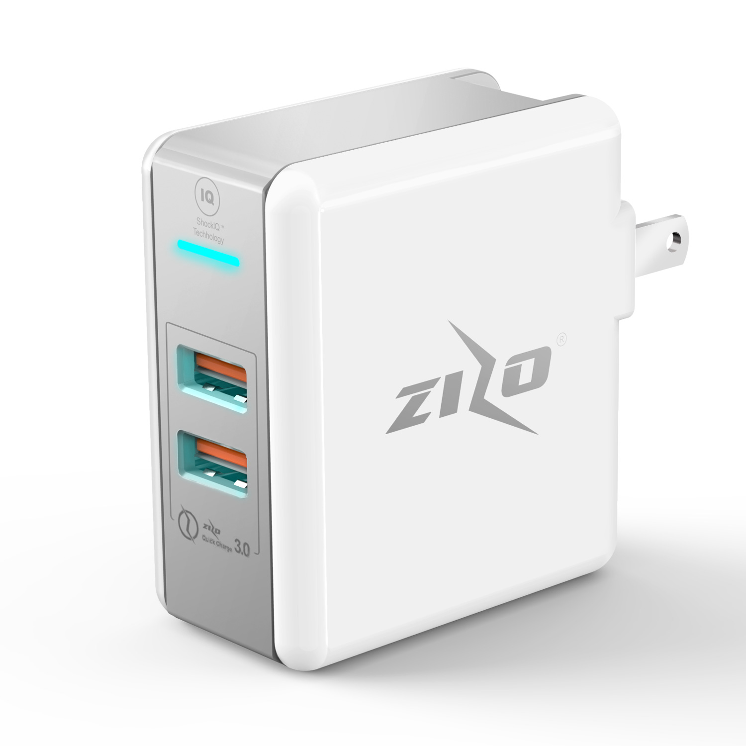 ZIZOCHARGE DUAL USB TRAVEL WALL
